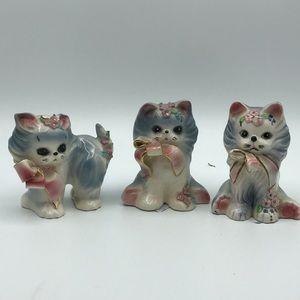 Josef Originals Fluff, Tuff, and Puff figurines